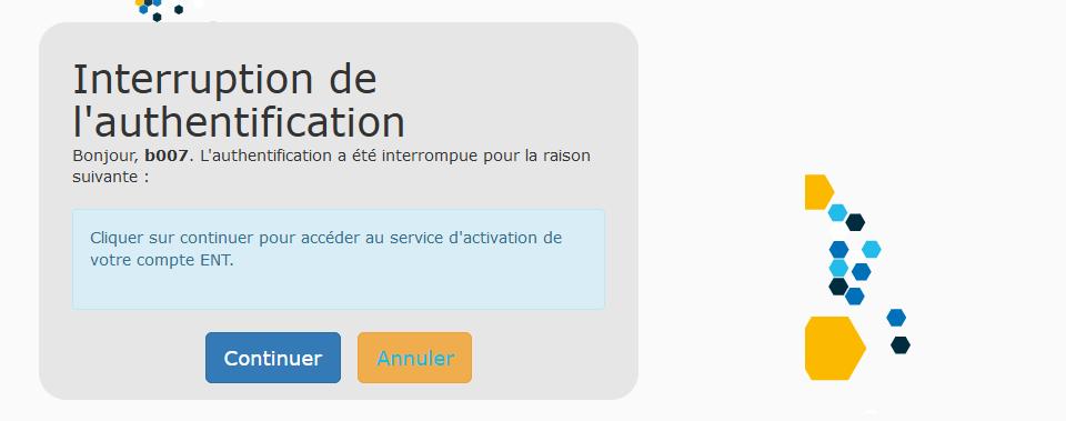 SESAME - Authentification interrompue