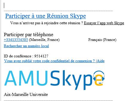 participer à une réunion skype